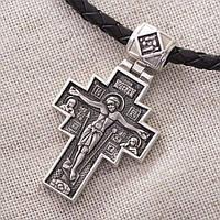 Серебряный православный крест GS с чернением, фото 1