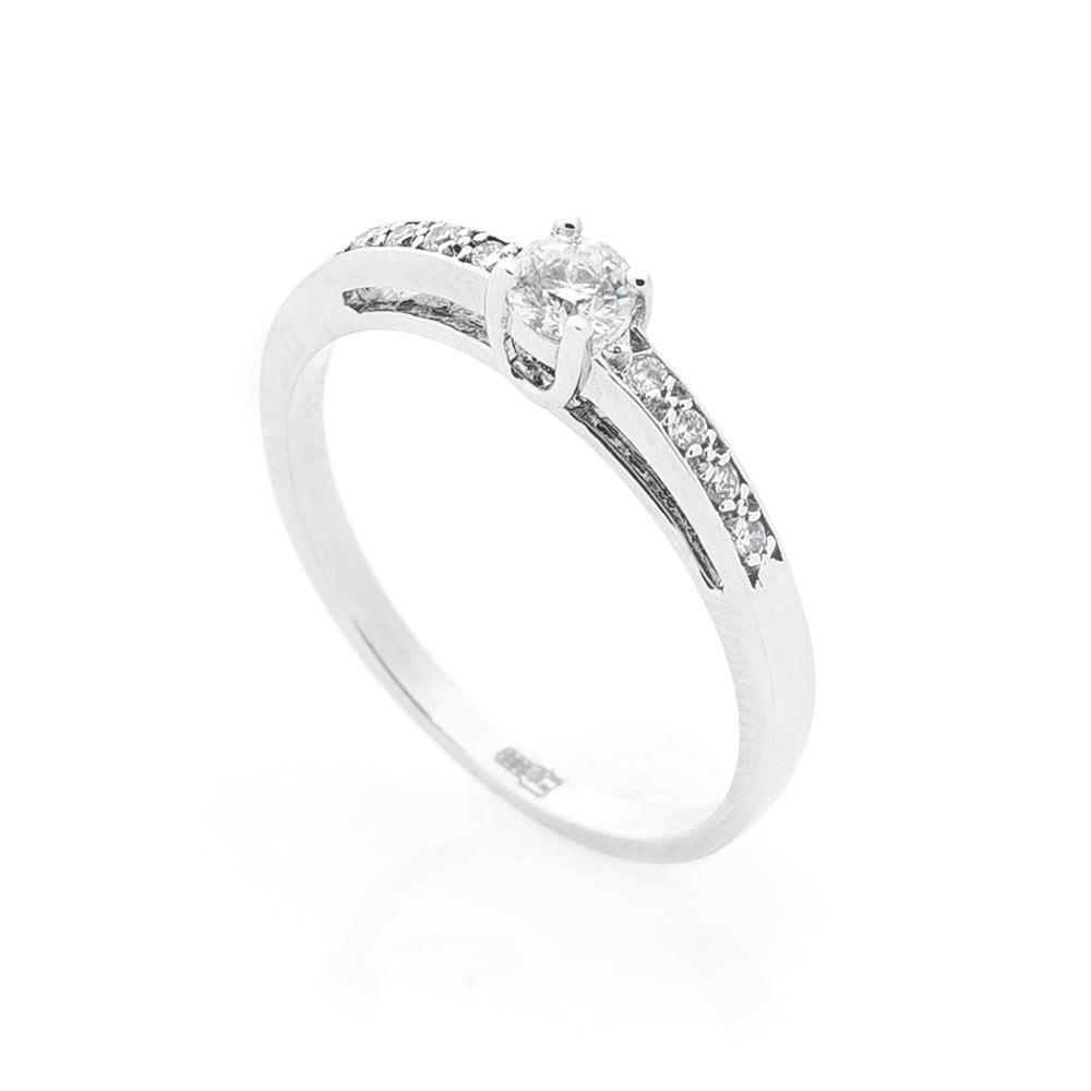 Помолвочное Золотое кольцо GS с бриллиантами