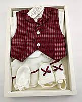 Подарочный набор костюм 0 до 4 месяцев Турция для новорожденных набор на выписку крещение