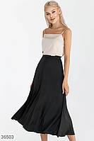 Базовая черная юбка с лаконичным кроем S M L XL