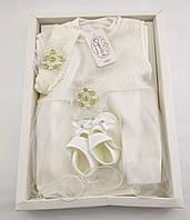 Подарунковий набір 0 до 4 місяців сукні на виписку подарунок для новонароджених хрещення