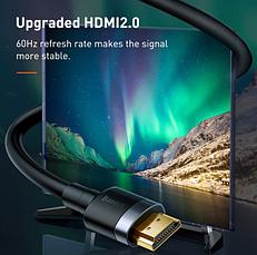 Кабель BASEUS Cafule Black с HDMI на HDMI 4k 3 м, фото 3