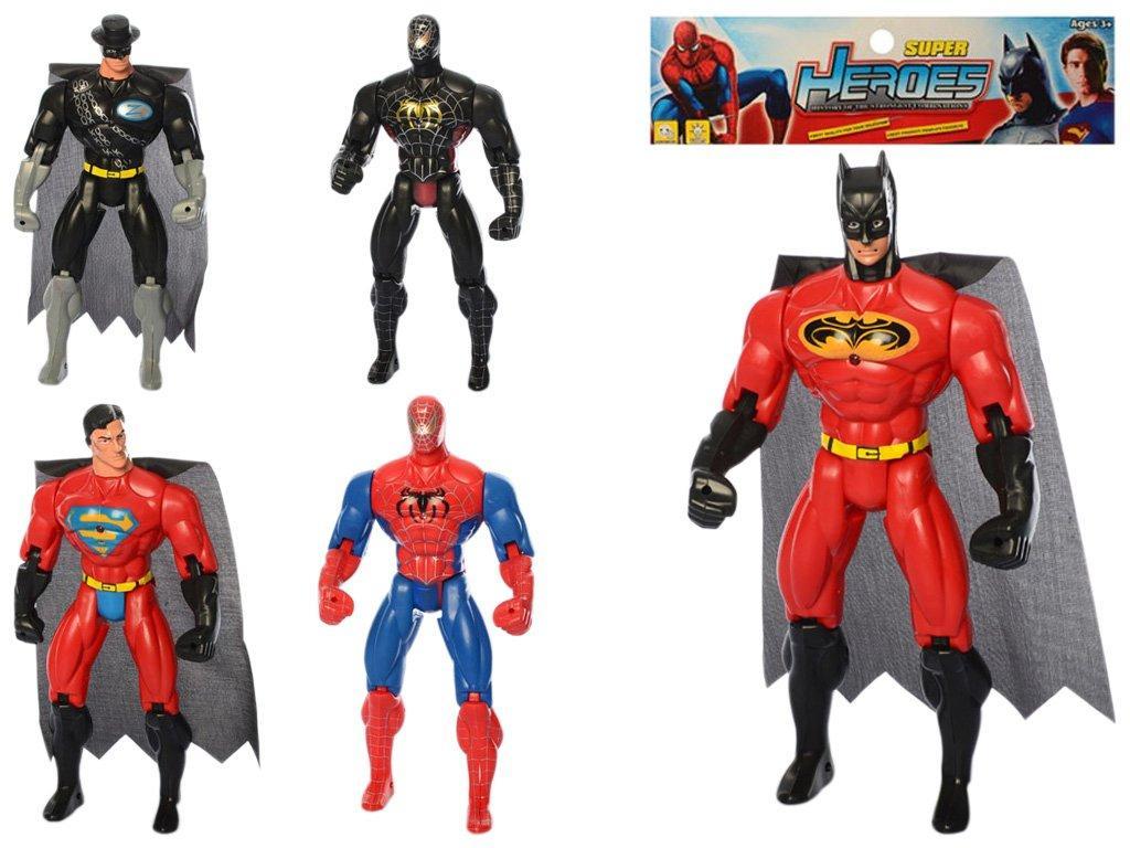 Супергерої 28 см, світло, рухомі руки, 8886-1-2-3-4