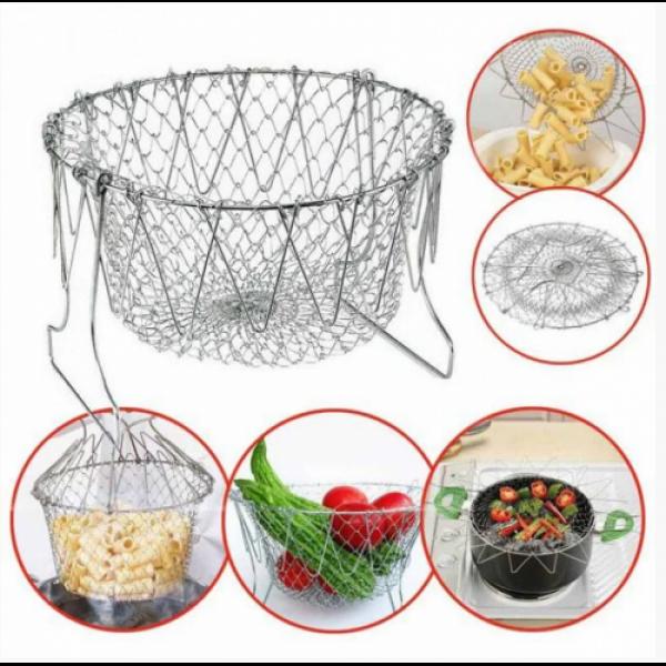 Складная решетка для приготовления пищи Chef Basket (Шеф Баскет)