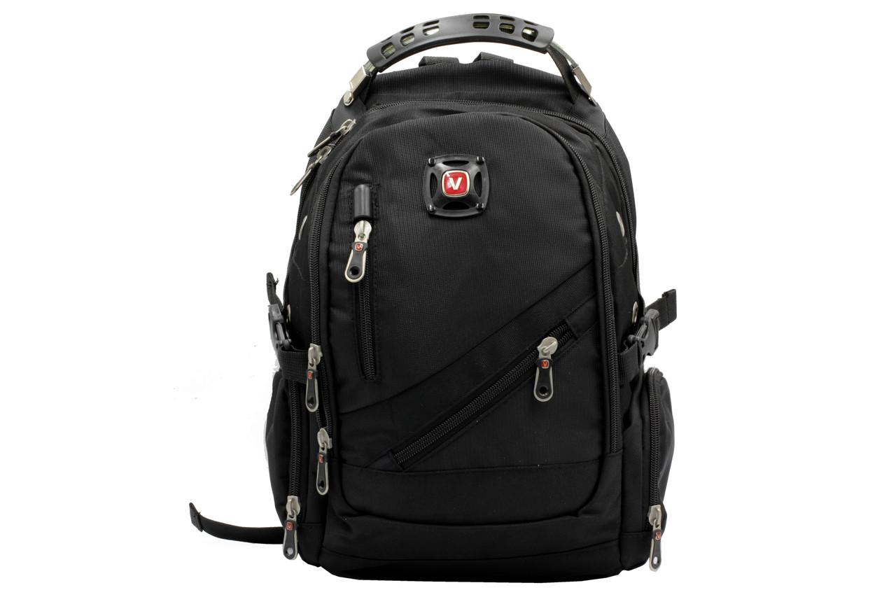Рюкзак малого розміру чорного кольору з текстилю (13066)