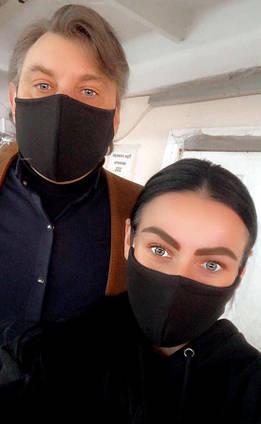 """Защитная трёхслойная маска 012 """"Питта Хлопок"""" в расцветках"""