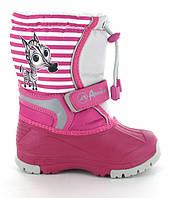 Дитячі зимові чоботи american club для дівчинки 25р - 15,5 см;