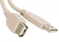 Удлинитель USB 2.0 3m AM/AF, с ферритовым кольцом ATcom, white