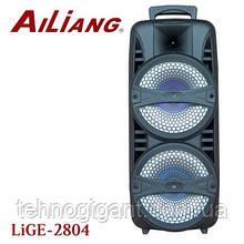 Портативная беспроводная акустическая система AILIANG LIGE 2804 Bluetooth колонка чемодан Black (LIGE-2804)