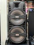 Портативная беспроводная акустическая система AILIANG LIGE 2804 Bluetooth колонка чемодан Black (LIGE-2804), фото 2
