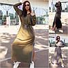 Р 42-56 Довге трикотажне плаття з капюшоном Батал 22345-1