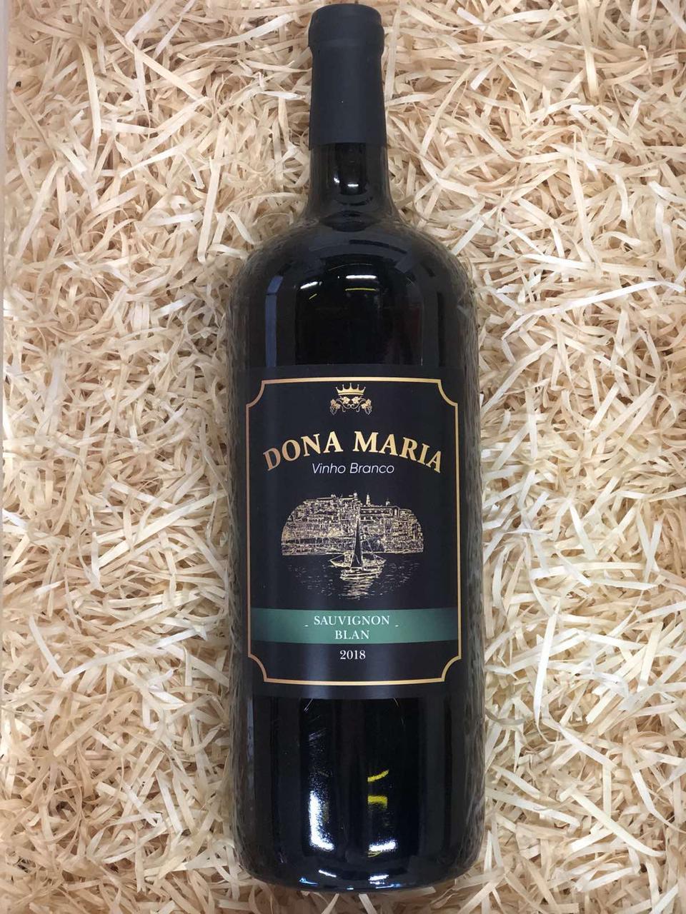 Вино белое сухое Dona Maria Sauvignon Blan 12% 1,5л