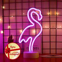 Неоновый светильник Фламинго, ночник, лампа неоновая Новинка 2021