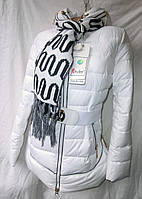 Куртка женская с шарфом холлофайбер