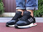 Мужские кроссовки Adidas Zx 500 Rm (черно-белые с красным) 9832, фото 4
