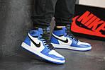 Мужские кроссовки Nike Air Jordan 1 Retro High OG (сине-белые) 8149, фото 3