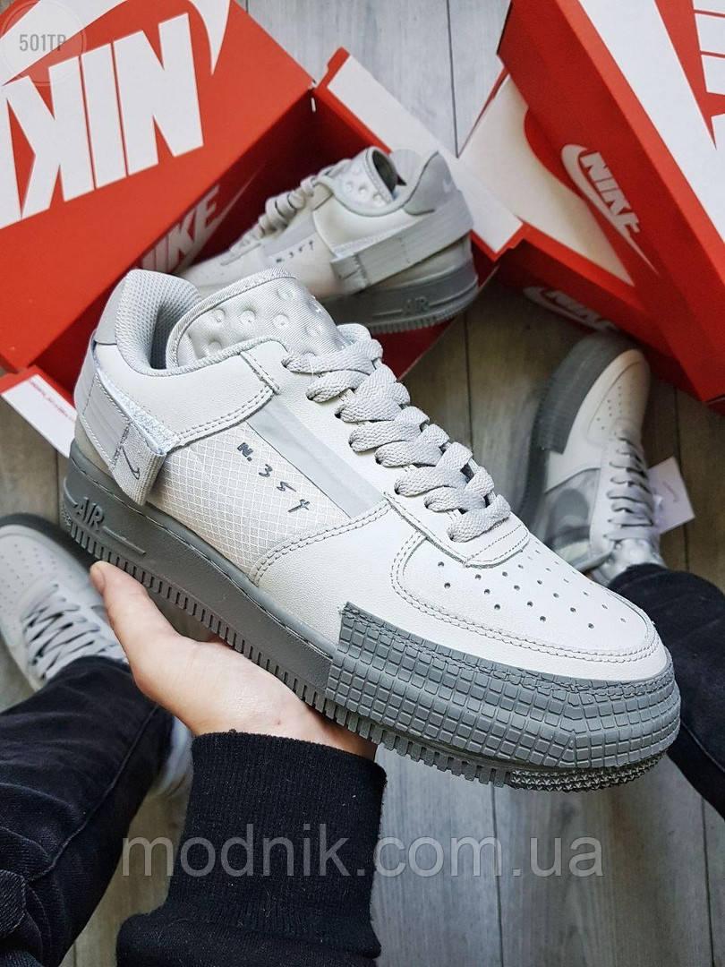 Мужские кроссовки Nike Air Force 1 Low Type N. 354 Grey (серые) 501TP