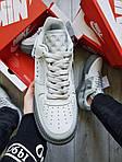 Мужские кроссовки Nike Air Force 1 Low Type N. 354 Grey (серые) 501TP, фото 2