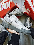Мужские кроссовки Nike Air Force 1 Low Type N. 354 Grey (серые) 501TP, фото 4