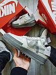 Мужские кроссовки Nike Air Force 1 Low Type N. 354 Grey (серые) 501TP, фото 7