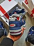 Мужские кроссовки New Balance 991 Blue (синие) Рефлективные 498PL, фото 3
