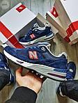Мужские кроссовки New Balance 991 Blue (синие) Рефлективные 498PL, фото 4