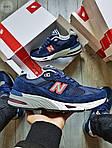 Мужские кроссовки New Balance 991 Blue (синие) Рефлективные 498PL, фото 6