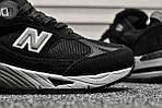 Мужские кроссовки New Balance 991 Black (черные) Рефлективные 111PL, фото 4