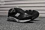 Мужские кроссовки New Balance 991 Black (черные) Рефлективные 111PL, фото 5