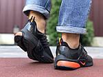 Мужские кроссовки Niке Air Presto (черно-оранжевые) 9833, фото 4