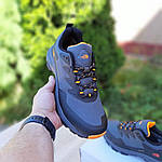 Мужские зимние кроссовки The North Face (серо-оранжевые) 3517, фото 8