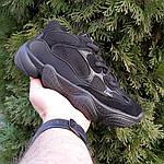 Женские кроссовки Adidas yeezy 500 (черные) 2990, фото 9
