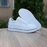 Женские высокие кроссовки Calvin Klein (белые) 20222, фото 4