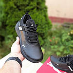 Мужские кроссовки Puma (черно-белые) 10274, фото 4