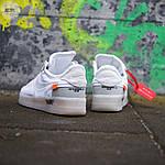 Мужские кроссовки Nike Air Force x Off-White White (белые) 322PL, фото 2