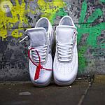 Мужские кроссовки Nike Air Force x Off-White White (белые) 322PL, фото 3