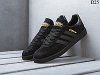 Мужские демисезонные кроссовки Adidas Spezial (черно-золотые) D25