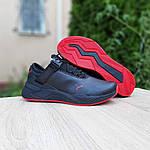 Мужские кроссовки Puma (черно-красные) 10272, фото 5
