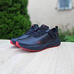 Мужские кроссовки Puma (черно-красные) 10272, фото 6