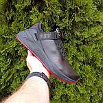 Мужские кроссовки Puma (черно-красные) 10272, фото 8
