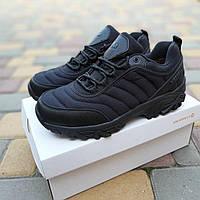 Мужские зимние кроссовки Merrell Vibram (черные) 3524