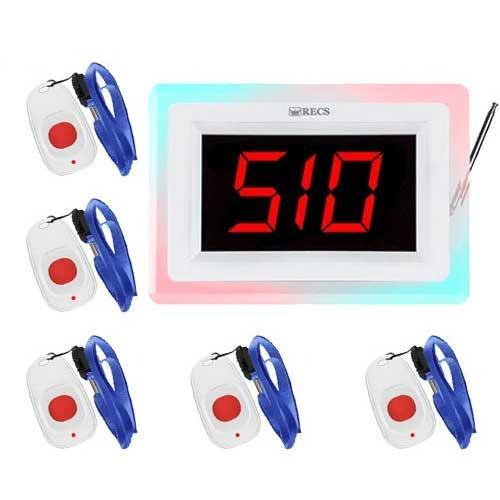 Система виклику медперсоналу RECS №27 | кнопки виклику медсестри 5 шт + приймач виклику персоналу