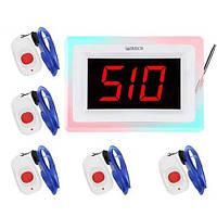 Система вызова медперсонала RECS №27   кнопки вызова медсестры 5 шт + приемник вызова персонала