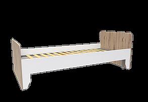 Ліжко Нордік 0,90 м (Секвойя + Білий) + металевий внесок, фото 2