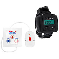 Система виклику для інваліда RECS №44   кнопки виклику медсестри 1 шт + пейджер персоналу, фото 1