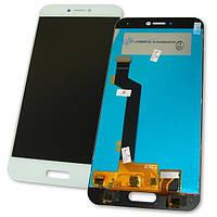 Дисплей Xiaomi Mi5C с сенсором, белый (оригинальные комплектующие), фото 1