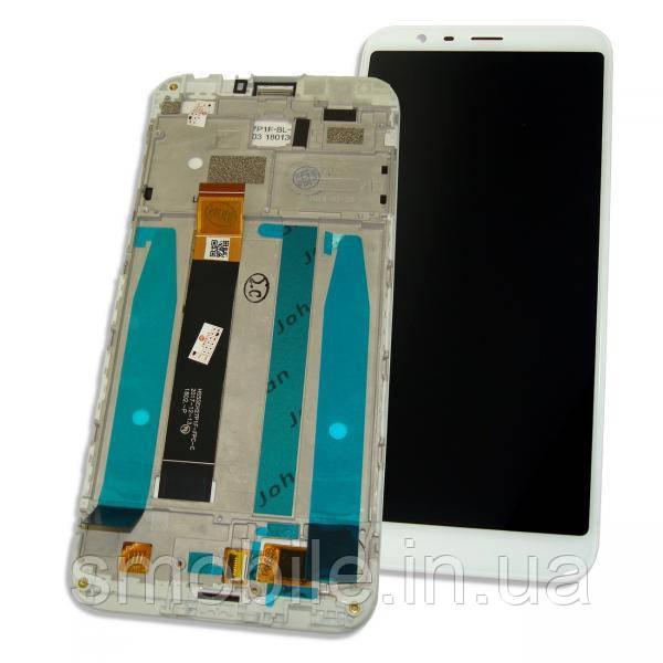 Meizu Дисплей Meizu M8c с сенсором и рамкой, белый (оригинал Китай)
