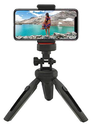 Раскладной мини штатив-тринога (трипод) для телефона и фотоаппарата Z-01 Черный