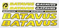Наклейка Batavus на раму велосипеда, желтый (NAK041)