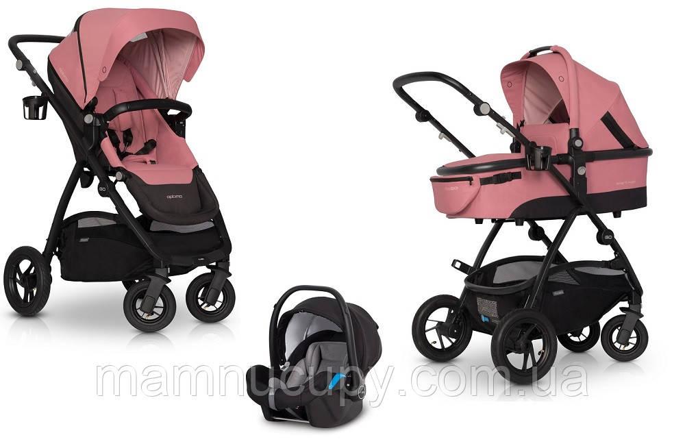 Детская универсальная коляска 3 в 1 EasyGo Optimo Air Rose 2020 (с автокреслом)